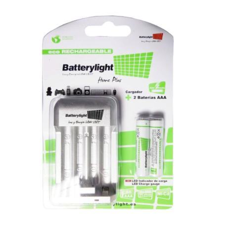 BATTERYLIGHT CARGADOR AA - AAA + REGALO 2 AAA