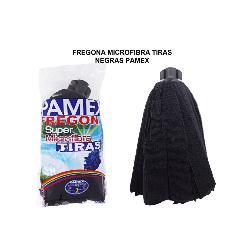 PAMEX FREGONA MICROFIBRA TIRAS NEGRAS