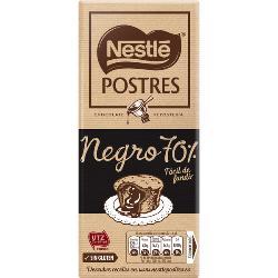 NESTLE CHOCOLATE POSTRE NEGRO 70% 170 GRS.