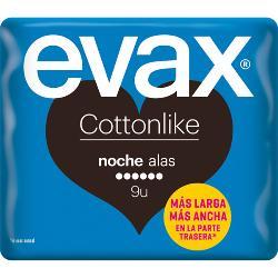 EVAX COMPRESA COTTON NOCHE ALA 9 UND.