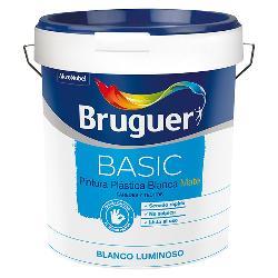 BRUGUER PINTURA PLASTICA BASIC BLANCO MATE 4 LTS.