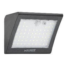 APLIQUE SOLAR LED 250 LUMENES CON SENSOR DE MOVIMIENTO Y CRESPUSCULAR IP65