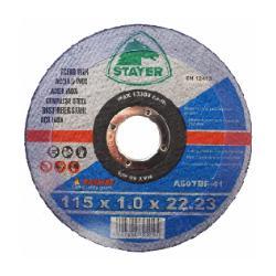 STAYER DISCO CORTE INOX 115X1.0X22.23