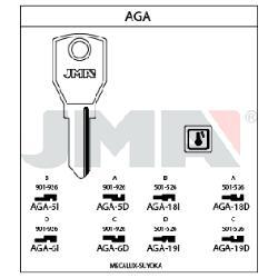 LLAVE AGA18D JMA