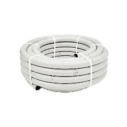 (METRO)TUBO PVC FLEXIBLE HIDROTUBO BLANCO 20/25 MM.