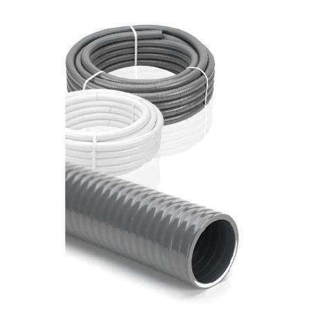 (METRO)TUBO FLEXIBLE PVC HIDROTUBO GRIS 33/40