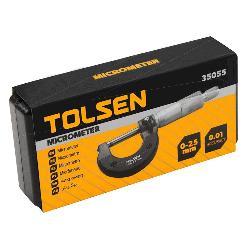 TOLSEN MICROMETRO 0-25MM PRECISION 0.01MM