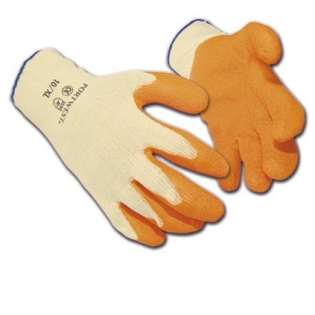 Guantes protección latex naranja.MACOR
