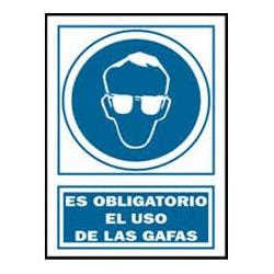 señal es obligatorio el uso  de las gafas