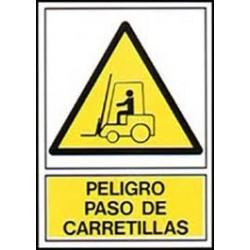 Señal  peligro paso de carrellas