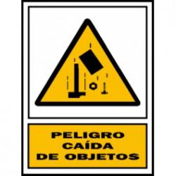 Señal peligro caída de  objetos