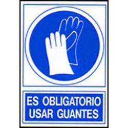Señal es obligatorio usar guantes